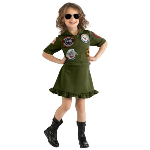 TopGunフライトドレスキッズ子供用Navyミリタリー軍隊PilotAviatorファンシーハロウィンコスチュームコスプレ衣装変装仮装