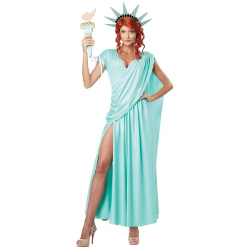 【ポイント最大29倍●お買い物マラソン限定!エントリー】Statue of Libertyレディス 女性用 大人用 Lady Liberty ハロウィン コスチューム コスプレ 衣装 変装 仮装