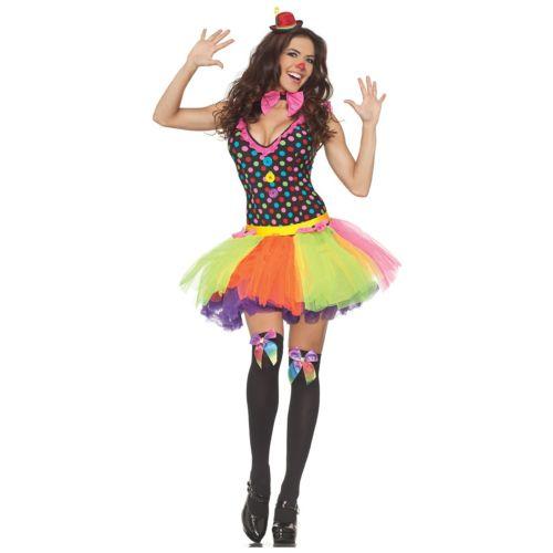 クラウン ピエロ 道化師レディス 女性用 Funny 大人用 ハロウィン コスチューム コスプレ 衣装 変装 仮装