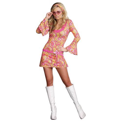 【マラソン全品P5倍】Go Go ガール 大人用 60s or 70s gogo Dancer ヒッピー クリスマス ハロウィン コスチューム コスプレ 衣装 変装 仮装