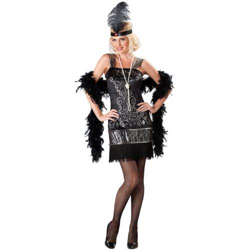 フラッパー 大人用 レディス 女性用 Roaring 20s Gatsby ガール ハロウィン コスチューム コスプレ 衣装 変装 仮装