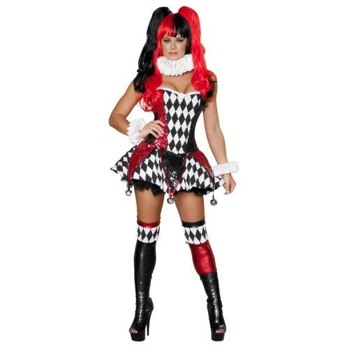 セクシー 大人用 Harlequin 大人用 レディス 女性用 仮装 Jester Harley Quinn ハロウィン セクシー コスチューム コスプレ 衣装 変装 仮装, 一風騎士2号店:57325206 --- officewill.xsrv.jp