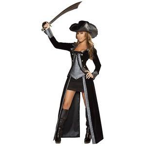 Pirate Princess Costume Adult Long Coat Dress Halloween Fancy ハロウィン 変装 衣装 送料込 大人用 コスチューム クリスマス ドレス 仮装 限定特価 コスプレ