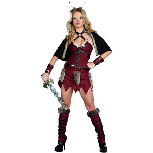 Viking Warriorセクシー Medieval Barbarian ガール 大人用 ハロウィン コスチューム コスプレ 衣装 変装 仮装