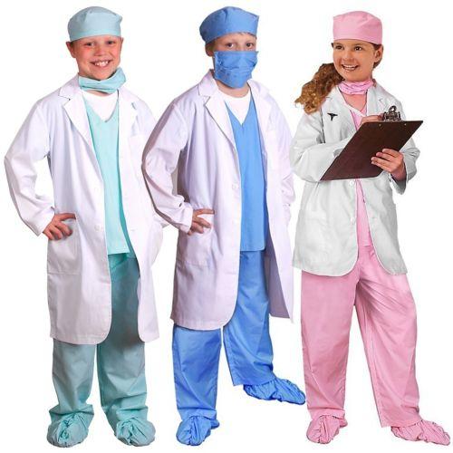 Doctor 子供用 ガールズ Dr Physician Pretend Play クリスマス ハロウィン コスチューム コスプレ 衣装 変装 仮装