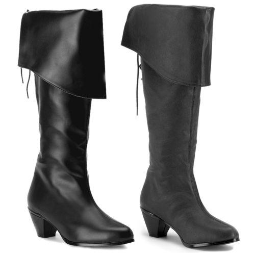 【ポイント最大29倍●お買い物マラソン限定!エントリー】Pirate Boots レディス 女性用 ブラック Knee-High 大人用 シューズ 靴 ハロウィン コスチューム コスプレ 衣装 変装 仮装