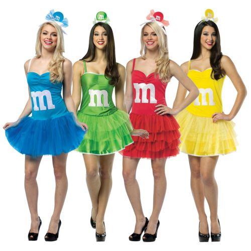 M&M's パーティドレス 大人用 Funny Candy セクシー クリスマス ハロウィン コスチューム コスプレ 衣装 変装 仮装