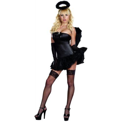 Dark エンジェル 天使 大人用 ブラック Fallen ハロウィン コスチューム コスプレ 衣装 変装 仮装