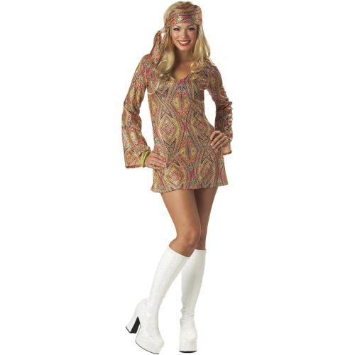 ディスコ パーティ クラブ Dolly 大人用 60s or 70s Go Go ガール ヒッピーStd/プラスサイズ 大きいサイズ ハロウィン コスチューム コスプレ 衣装 変装 仮装