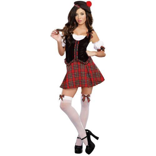 Scottishレディス 女性用 大人用 セクシー Kilt クリスマス ハロウィン コスチューム コスプレ 衣装 変装 仮装