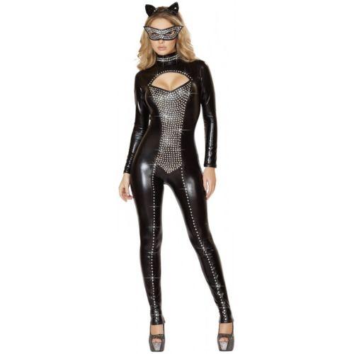 セクシー Catレディス 女性用 大人用 Catsuit クリスマス ハロウィン コスチューム コスプレ 衣装 変装 仮装
