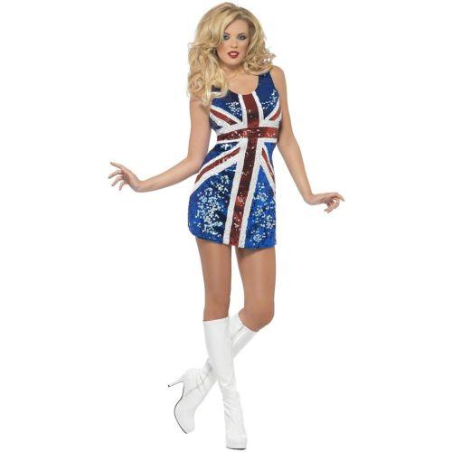Union Jack ドレス 大人用 セクシー British FlagGo Go DancerOutfit クリスマス ハロウィン コスチューム コスプレ 衣装 変装 仮装