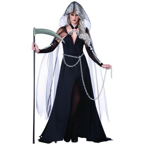 Grim Reaper 大人用 レディス 女性用 ゴースト 幽霊 お化け ゾンビ ハロウィン コスチューム コスプレ 衣装 変装 仮装