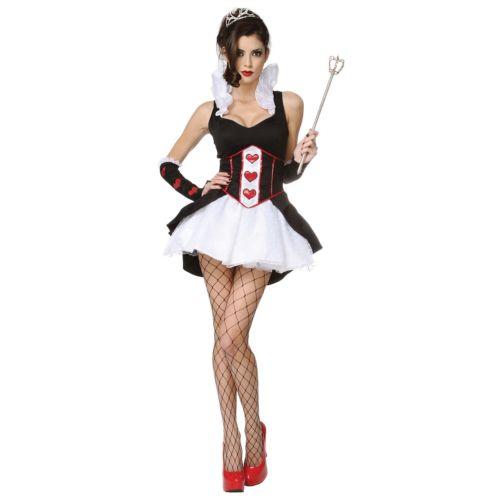 セクシー Queen of Heartsレディス 女性用 大人用 ハロウィン コスチューム コスプレ 衣装 変装 仮装