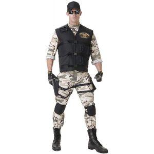 Navy SEAL 大人用 コスチューム 男性用 SEAL メンズ ミリタリー 軍隊 ハロウィン コスチューム メンズ コスプレ 衣装 変装 仮装, 手芸材料工房:b2a885da --- officewill.xsrv.jp
