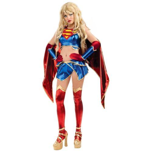 Anime スーパーガール 大人用 レディス 女性用 セクシー スーパーヒーロー コスプレ クリスマス ハロウィン コスチューム コスプレ 衣装 変装 仮装