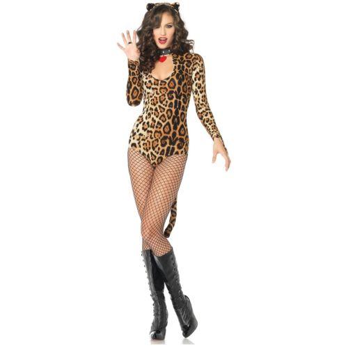 Wicked ワイルドcat 大人用 レディス 女性用 セクシー レオパード ヒョウ Print Kitty Cat Cougar ハロウィン コスチューム コスプレ 衣装 変装 仮装