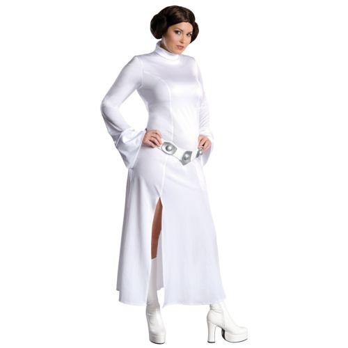 Princess Leia Star Wars スターウォーズ プラスサイズ 大きいサイズ 大人用 レディス 女性用 Long ホワイト ドレス ハロウィン コスチューム コスプレ 衣装 変装 仮装