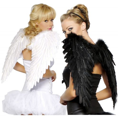 Wings for 大人用 or Teen Dark Fallen エンジェル 天使 Raven ハロウィン コスチューム コスプレ 衣装 変装 仮装