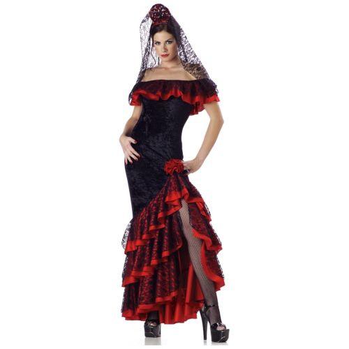 <title>Flamenco Dancer Costume お得セット Adult Spanish Senorita Womens Mexican Fancy Dress 全品ポイント5倍 大人用 レディス 女性用 クリスマス ハロウィン コスチューム コスプレ 衣装 変装 仮装</title>