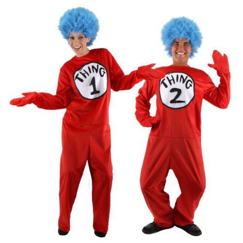 【全品P5倍】Thing 1 and Thing 2 大人用 Thing One and Thing Two Dr Seuss クリスマス ハロウィン コスチューム コスプレ 衣装 変装 仮装