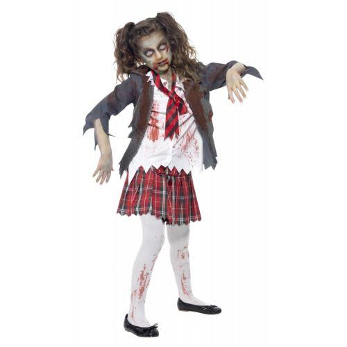 ゾンビ 幽霊 お化け スクールガール キッズ 子供用 ハロウィン コスチューム コスプレ 衣装 変装 仮装