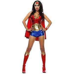 Wonderwoman 大人用 レディス 女性用 Superhero コスプレ クリスマス ハロウィン コスチューム コスプレ 衣装 変装 仮装