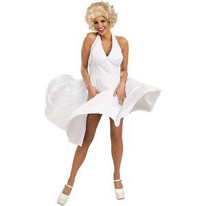 【ポイント最大29倍●お買い物マラソン限定!エントリー】Marilyn Monroe マリリンモンロー 大人用 レディス 女性用 セクシー 50s Hollywood Starlet ホワイト ドレス ハロウィン コスチューム コスプレ 衣装 変装 仮装
