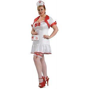 プラスサイズ 大きいサイズ Nurseセクシー 大人用 Outfit ハロウィン コスチューム コスプレ 衣装 変装 仮装