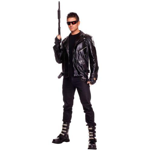 【ポイント最大29倍●お買い物マラソン限定!エントリー】The Terminator ターミネーター 大人用 男性用 メンズ ブラック Motorcycle Style ジャケット ハロウィン コスチューム コスプレ 衣装 変装 仮装