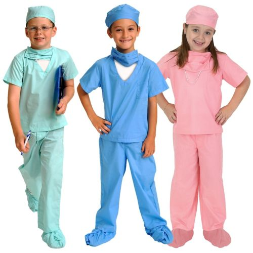 Doctor 子供用 ガールズ Dr Scrubs クリスマス ハロウィン コスチューム コスプレ 衣装 変装 仮装