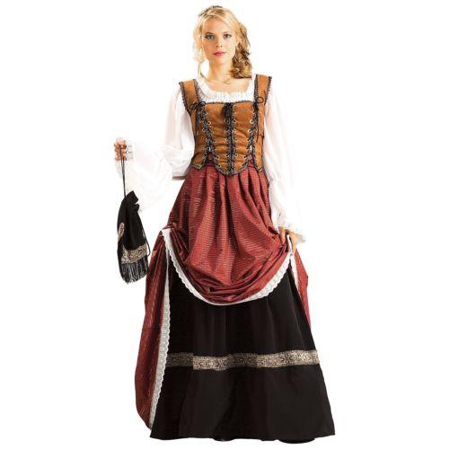 Deluxe Scottish Brigadoonレディス 女性用 Lady maiden Medieval Renaissance ドレス クリスマス ハロウィン コスチューム コスプレ 衣装 変装 仮装