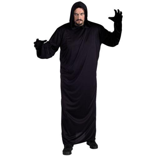 ブラック ローブプラスサイズ 大きいサイズ 大人用 Hooded クリスマス ハロウィン コスチューム コスプレ 衣装 変装 仮装