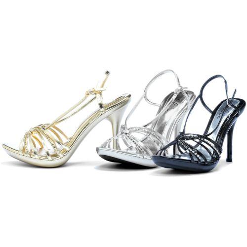 High Heel シューズ 靴 大人用 レディス 女性用 Strappy Pumps セクシー Sandals with Rhinestones ハロウィン コスチューム コスプレ 衣装 変装 仮装