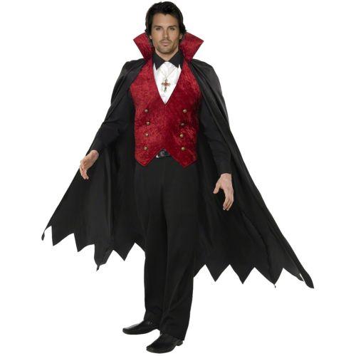 Dracula 大人用 男性用 メンズ バンパイア 吸血鬼 Outfit クリスマス ハロウィン コスチューム コスプレ 衣装 変装 仮装