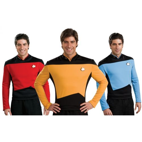 Star Trek スター・トレックTNG ユニフォーム 大人用 The Next Generation TNG ハロウィン コスチューム コスプレ 衣装 変装 仮装