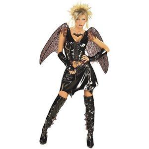 セクシー Bat 大人用 Fallen エンジェル 天使 Dark Fairy ブラック クリスマス ハロウィン コスチューム コスプレ 衣装 変装 仮装