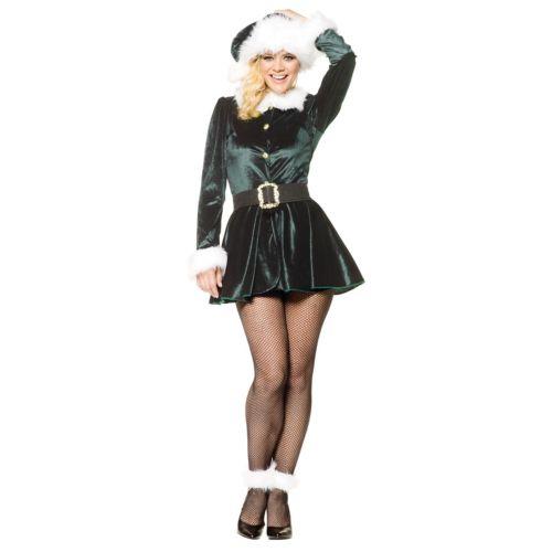 Elfレディス 女性用 大人用 クリスマス Outfit ハロウィン コスチューム コスプレ 衣装 変装 仮装