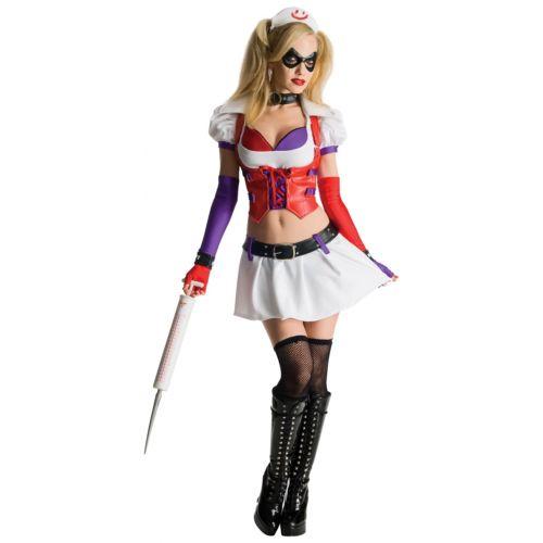 【マラソン全品P5倍】Harley Quinnセクシー 大人用 Arkham City Asylum ナース 看護婦さん 看護師 クリスマス ハロウィン コスチューム コスプレ 衣装 変装 仮装