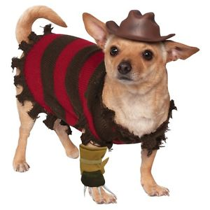 ハロウィン DogFunnyPet 《全品P5倍 コスチューム クリスマス エルム街の悪夢 クーポン多数有》Fレッドdy フレディクルーガー コスプレ 変装 Krueger 衣装 仮装