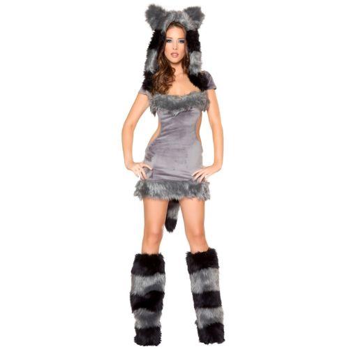 セクシー Raccoon 大人用 レディス 女性用 クリスマス ハロウィン コスチューム コスプレ 衣装 変装 仮装