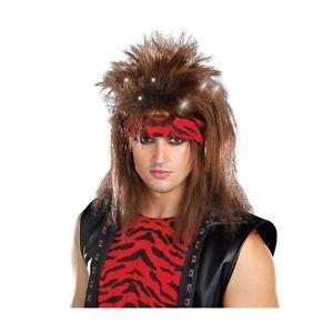 【ポイント最大29倍●お買い物マラソン限定!エントリー】Rock Star ウィッグ 男性用 メンズ 80s Hair Band ハロウィン コスチューム コスプレ 衣装 変装 仮装