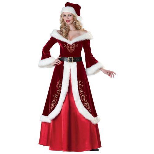 サンタクロースDeluxe レディス 女性用 サンタ 女神 大人用 クリスマス クリスマス ハロウィン コスチューム コスプレ 衣装 変装 仮装