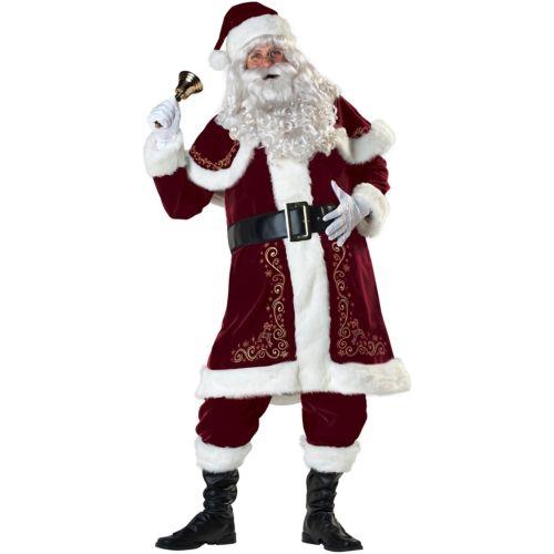 サンタクロース 大人用 Victorian Velvet スーツ Father クリスマス ハロウィン コスチューム コスプレ 衣装 変装 仮装