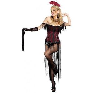 Saloon ガールBurlesque 大人用 Outfit クリスマス ハロウィン コスチューム コスプレ 衣装 変装 仮装