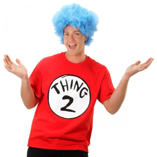 Thing 1 and Thing 2 大人用 Dr Seuss ハロウィン コスチューム コスプレ 衣装 変装 仮装