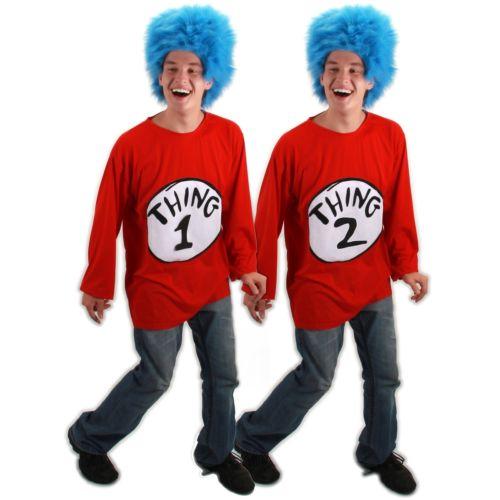 Thing 1 T-シャツ Kit 大人用 男性用 メンズ Dr. Seuss ハロウィン コスチューム コスプレ 衣装 変装 仮装