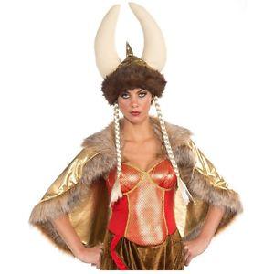 【全品P5倍】Dlx Viking HelmetHat レディス 女性用 Opera Singer Fat Lady クリスマス ハロウィン コスチューム コスプレ 衣装 変装 仮装