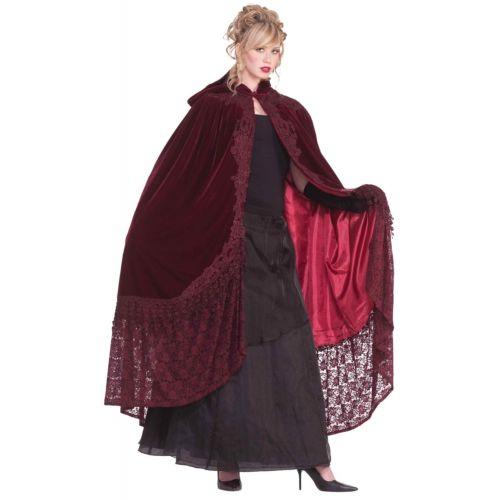 【店内全品P5倍】56 Velvet & Lace Victorian Cape 大人用 クリスマス ハロウィン コスチューム コスプレ 衣装 変装 仮装