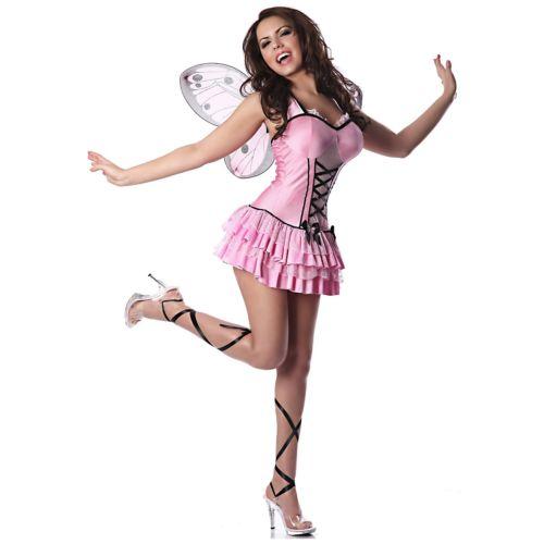 【マラソン全品P5倍】Butterfly 大人用 セクシー Pink Fairy クリスマス ハロウィン コスチューム コスプレ 衣装 変装 仮装